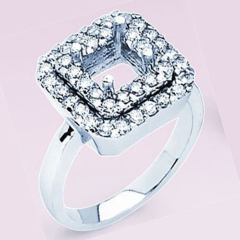 14kt Diamond Fashion Ring Semi Mount; .30cttw Diamond Total Weight.  Made to ...