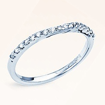 The Perfect Mate; 14kt .17cttw Diamond Conntour Band; Fits Most Solitaires an...