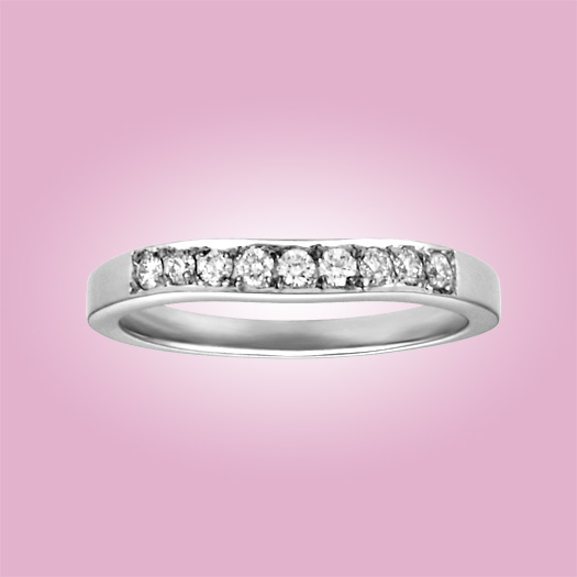 Cathedral Contour Diamond Band; 9 diamonds .25cttw.