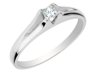 'Forever Yours Collection'' 14kt Engagement Ring with .12ct Princ...