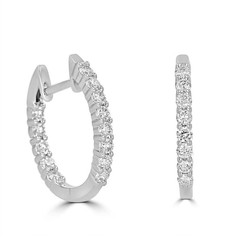 15X16MM ROUND DIAMOND IN/OUT EARRINGS