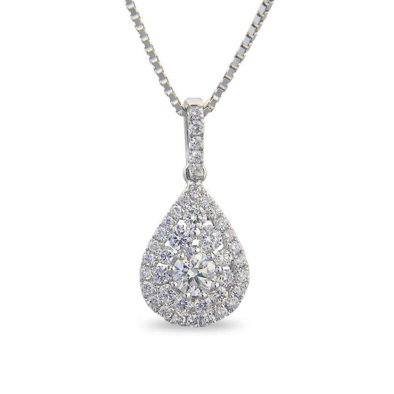 ROUND DIAMOND PEAR SHAPE PENDANT (CHAIN NOT INCLUDED)
