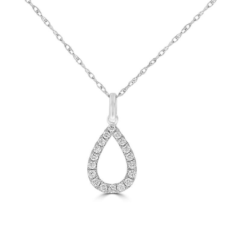 ROUND DIAMOND PEAR SHAPE OUTLINE PENDANT (CHAIN NOT INCLUDED)