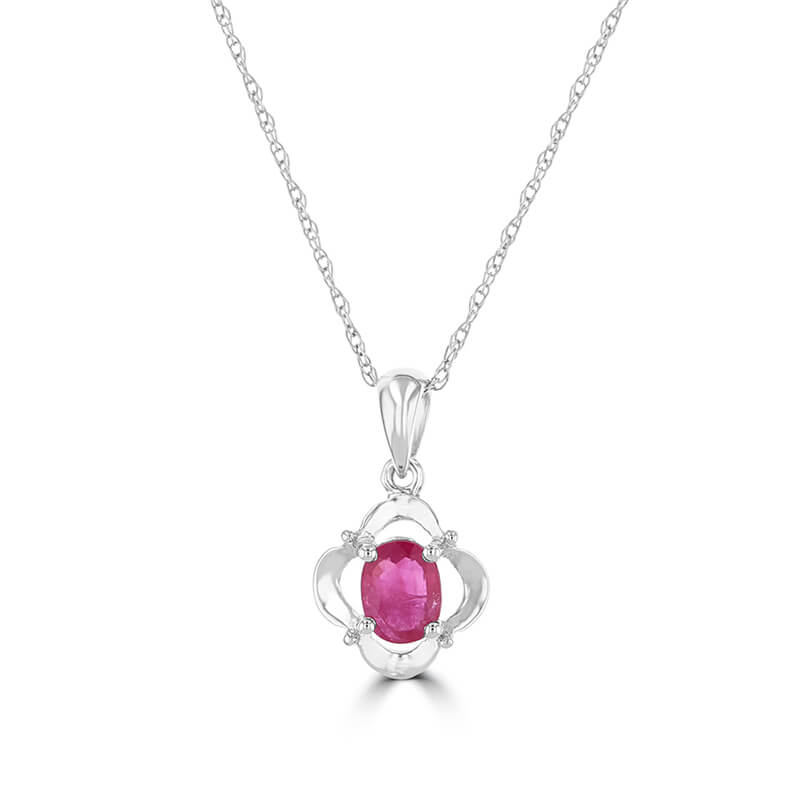 4X5 OVAL RUBY PENDANT (CHAIN NOT INCLUDED)