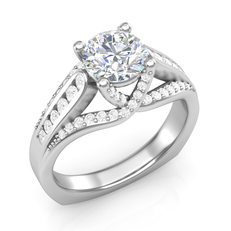 Twist Shank Engagement Ring