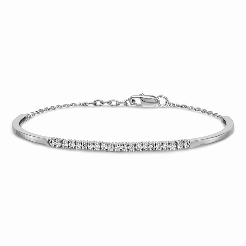 14kw Lab Grown Diamond SI1/SI2; G H I; Bangle Bracelet