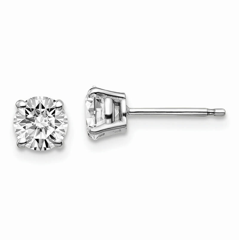 14kw 1ctw VS/SI; D E F; Lab Grown Diamond 4-Prg Earring