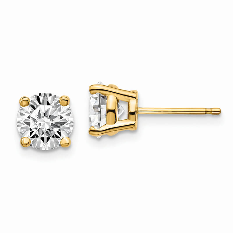 14ky 2ctw SI1/SI2; G H I; Lab Grown Diamond 4-Prg Earring