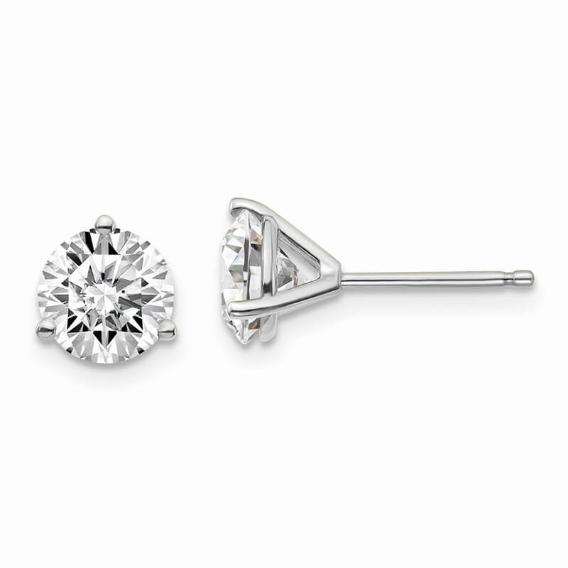 14kw 1 1/2ctw SI1/SI2; G H I; Lab Grown Diamond 3 Prg Earring