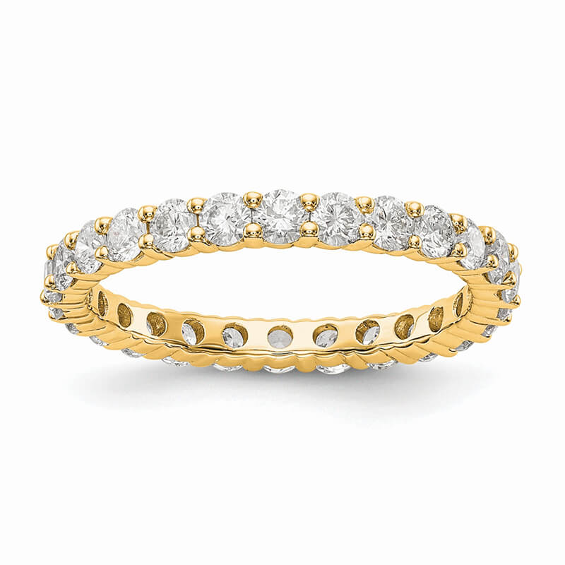 14ky Lab Grown Diamond SI1/SI2; G H I; Shared Prong Eternity Band