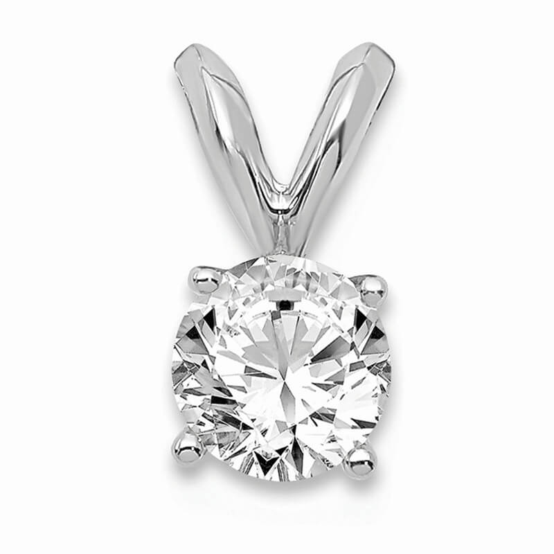 14kw 1/3ct. Round Lab Grown Diamond VS/SI; D E F; Solitaire Pendant
