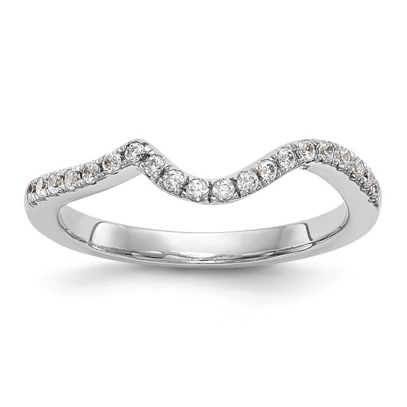 14kw Diamond Contoured Wedding Band