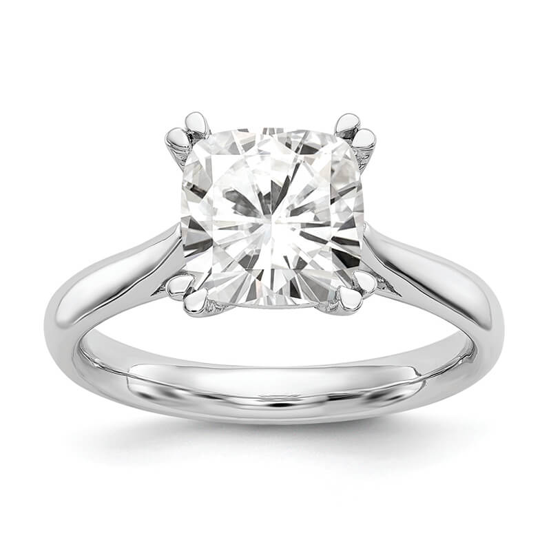 Platinum Square Solitaire Engagement Ring Mounting