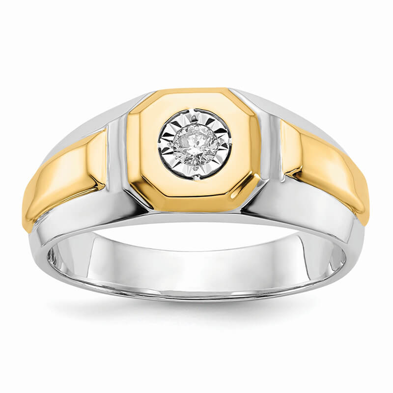 14ktt Lab Grown Diamond SI1/SI2; G H I; Men's Ring