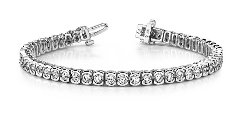 14kw Lab Grown Diamond SI1/SI2; G H I; tennis bracelet