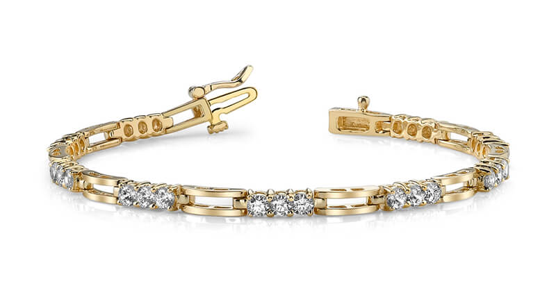 14ky Lab Grown Diamond SI1/SI2; G H I; tennis bracelet